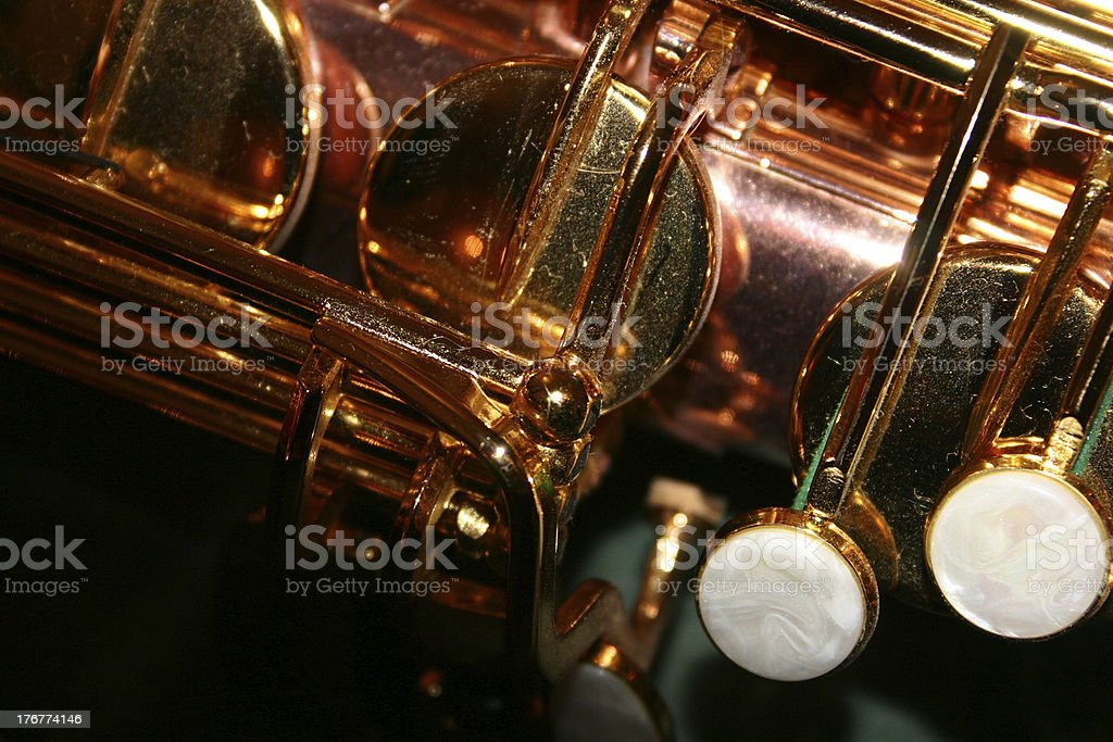 Music Sax keys stock photo