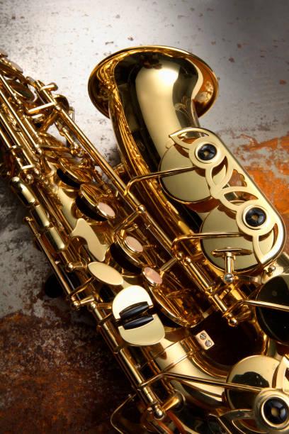 musik: saxophon - altsaxophon stock-fotos und bilder