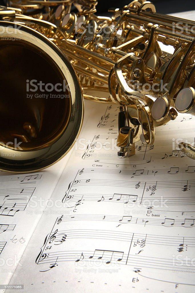Music: Saxophone stock photo