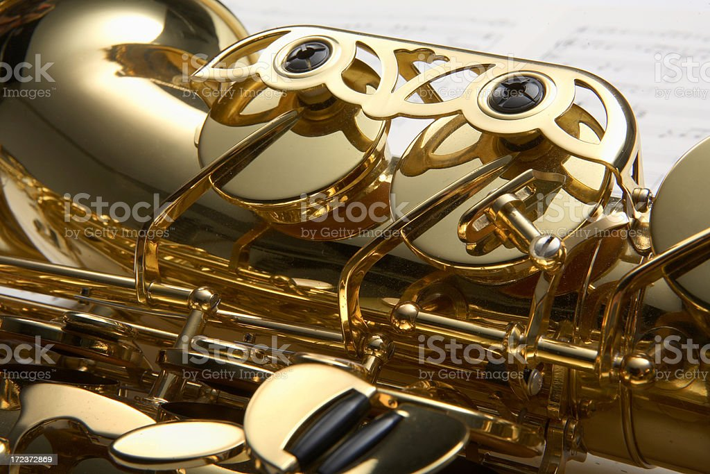 Music: Saxophone stock photo