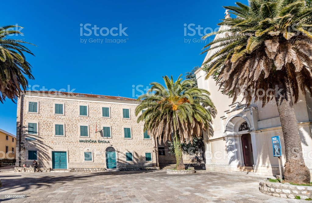 Music School And Church In The Old City Of Herceg Novi Montenegro