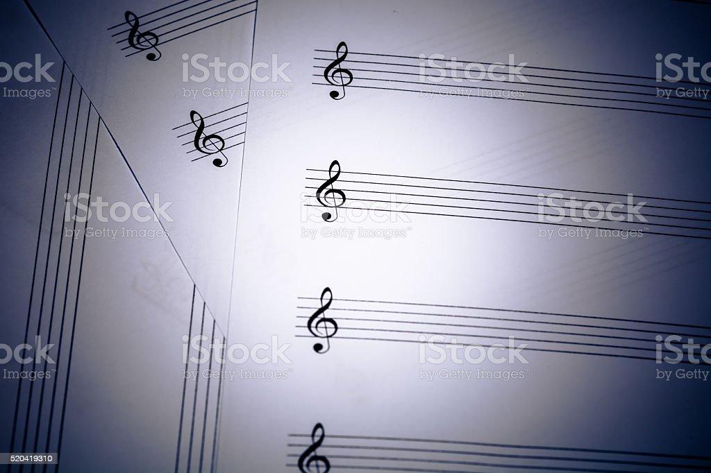 music score background stock photo