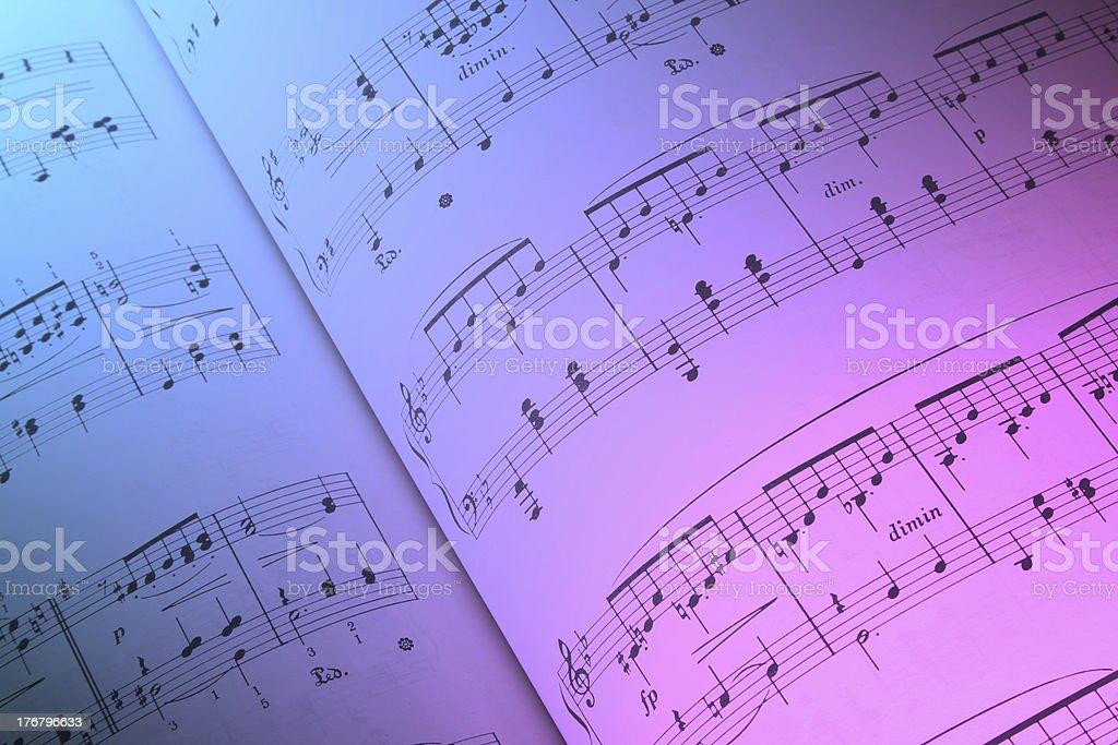 Music Score stock photo