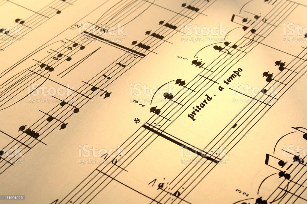 music score royalty-free stock photo