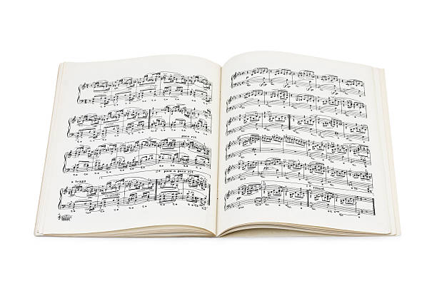 Music sheet Music sheet isolated on white background sheet music stock pictures, royalty-free photos & images