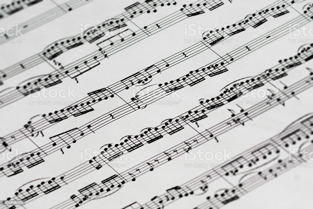 music sheet stock photo