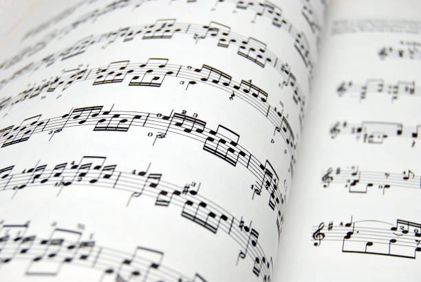 Music Sheet Guitar music sheets. Good file for musical backgrounds sheet music stock pictures, royalty-free photos & images