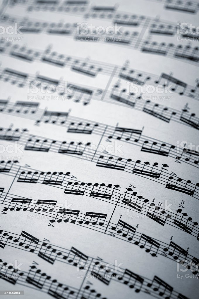 music sheet with scales royalty-free stock photo