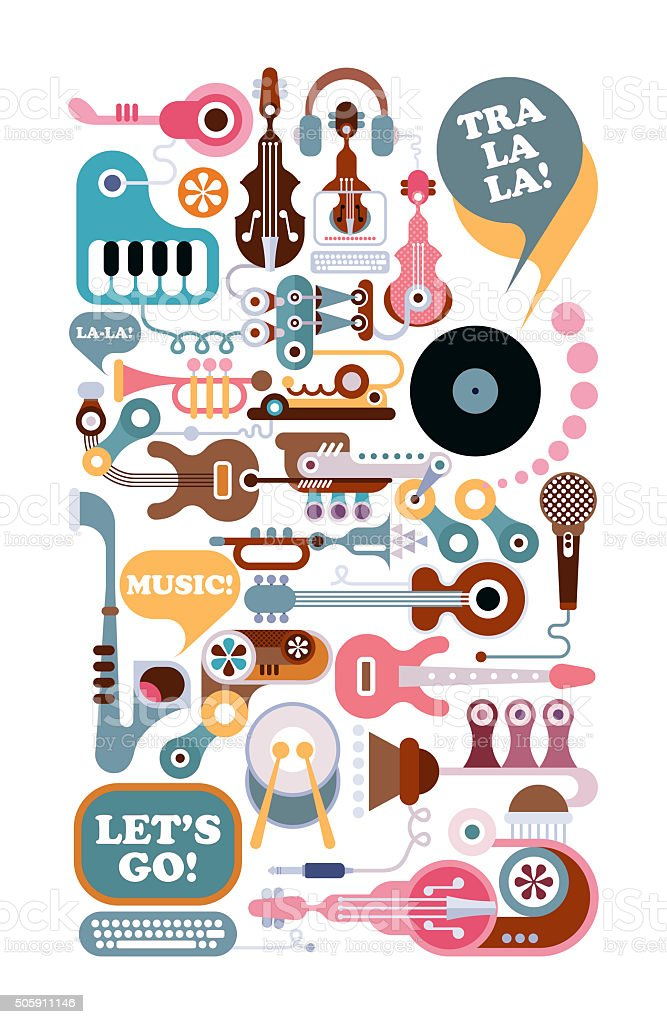 Boutique de musique Illustration - Photo
