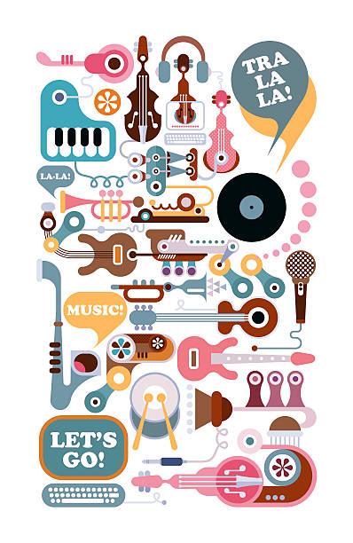 Boutique de musique Illustration - Photo