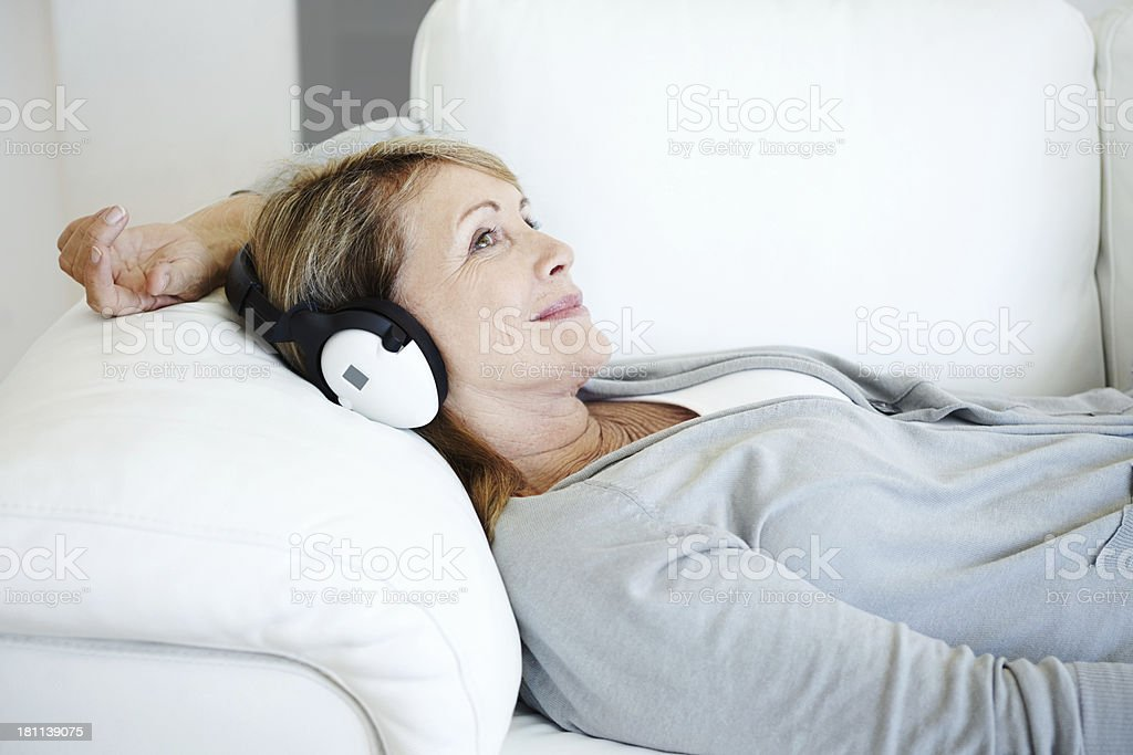 Music soothes my mind royalty-free stock photo
