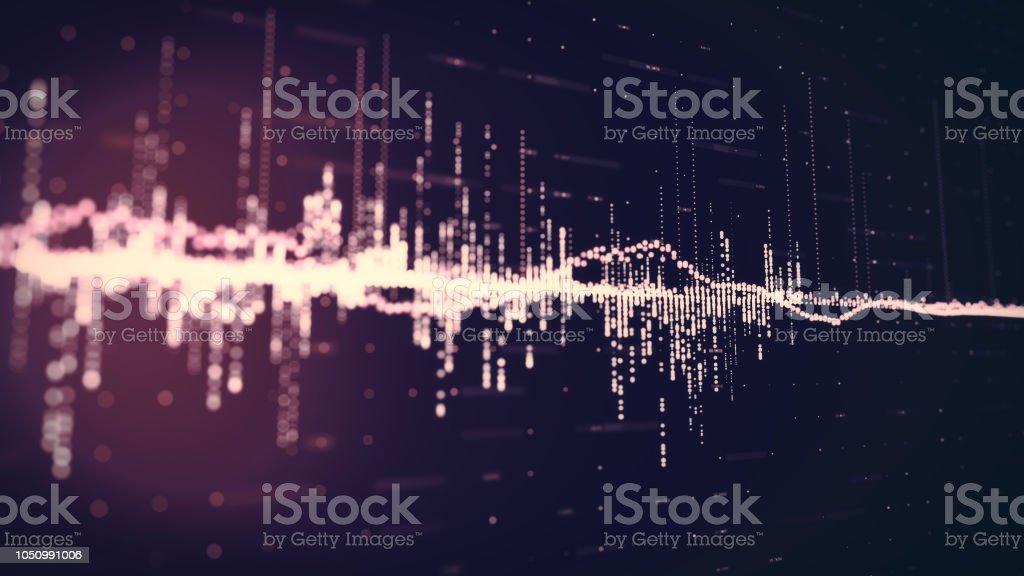 Música, ondas de som de fundo - foto de acervo