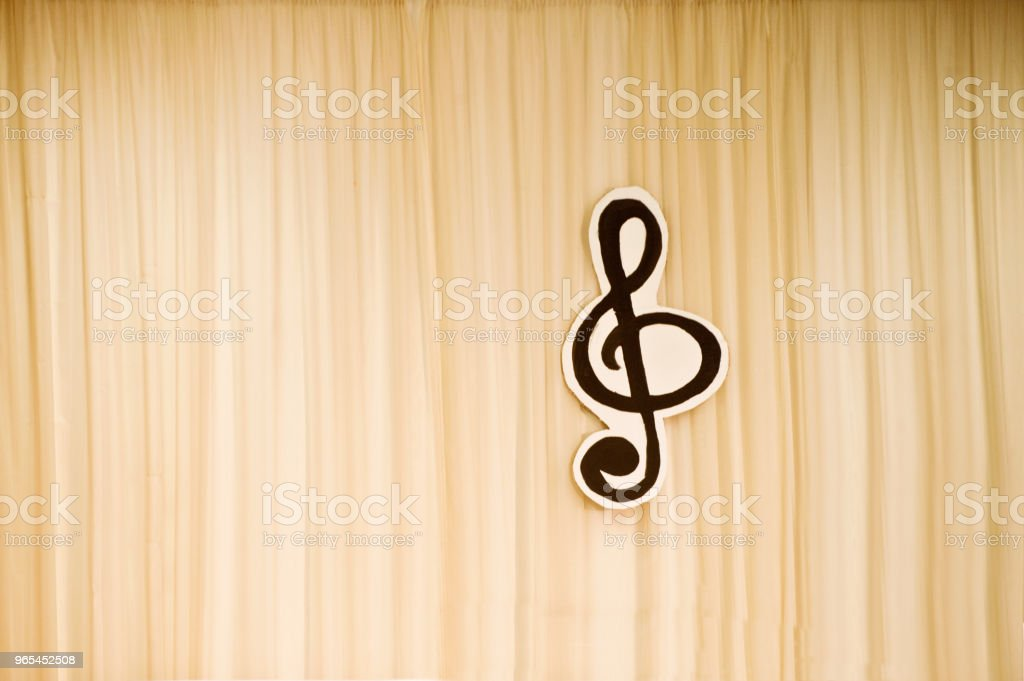 Music Stage With Treble Clef Symbol royalty-free stock photo
