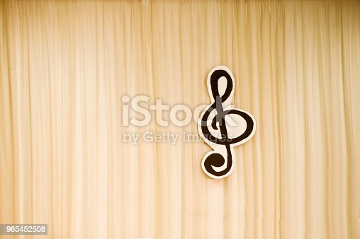 istock Music Stage With Treble Clef Symbol 965452508
