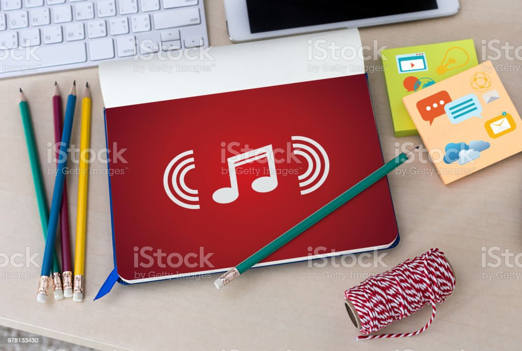 Music Streaming Media enjoying the music Entertainment Download stock photo