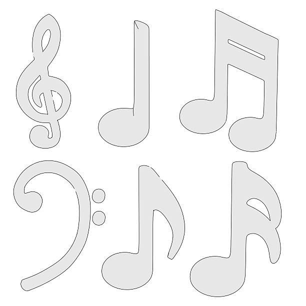 música conjunto de símbolos - desenhos de notas musicais - fotografias e filmes do acervo