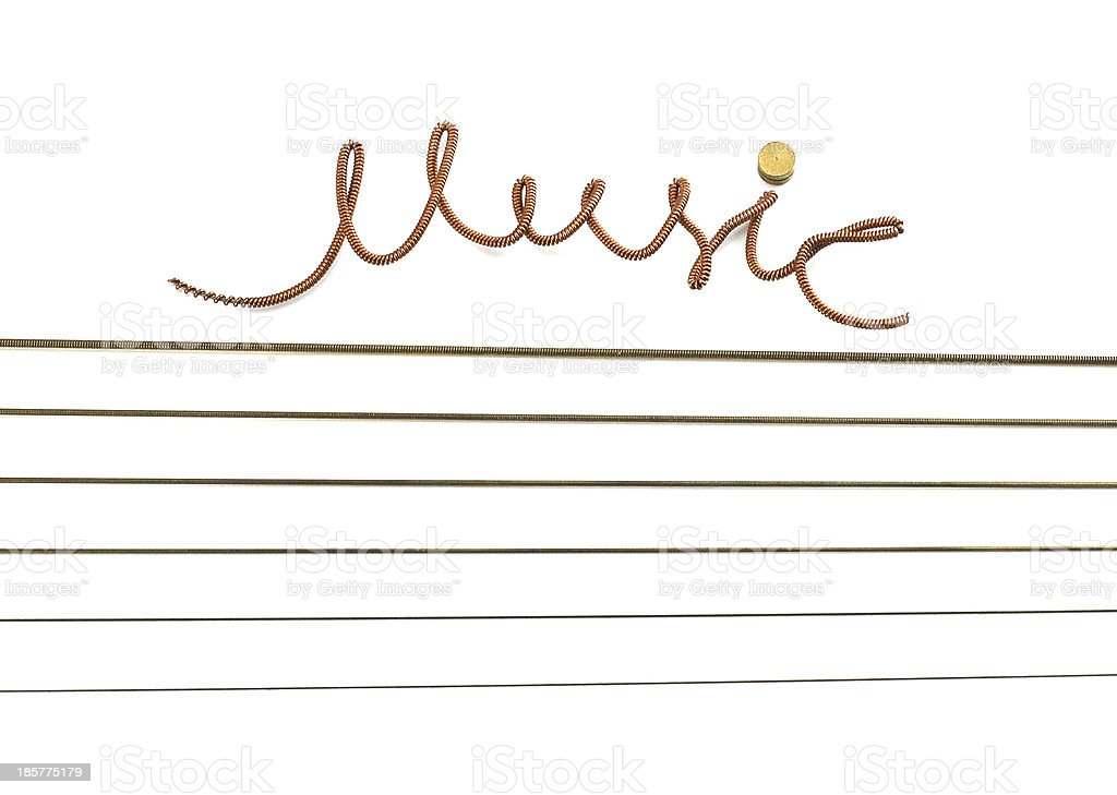 Music the inscription of a string. royalty-free stock photo