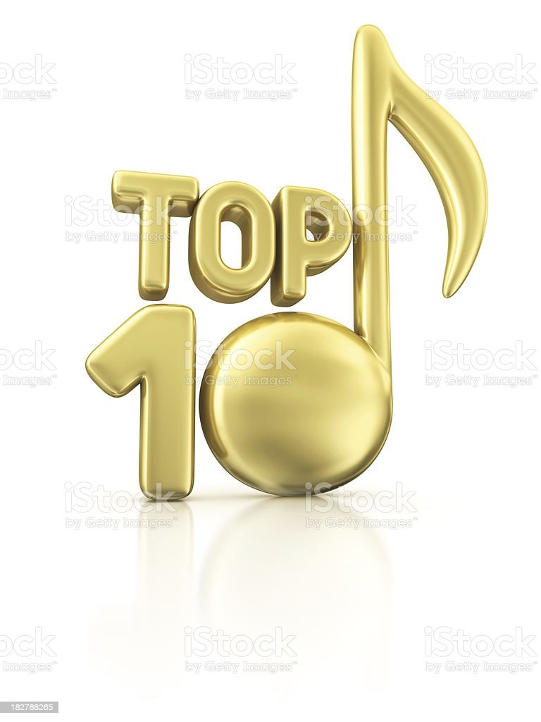 music TOP 10 royalty-free stock photo