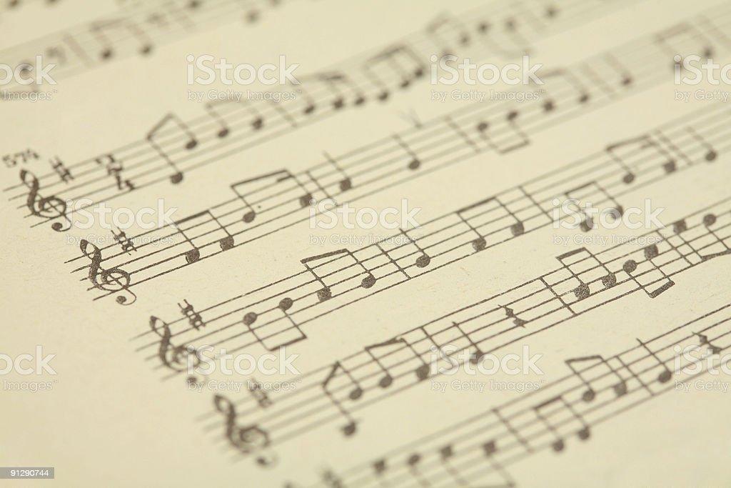 Music type royalty-free stock photo