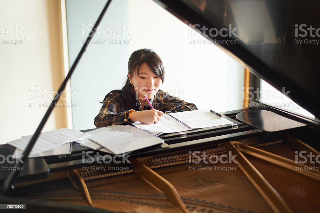 Music Unlocks Self-expression, Intelligence, Creativity stock photo