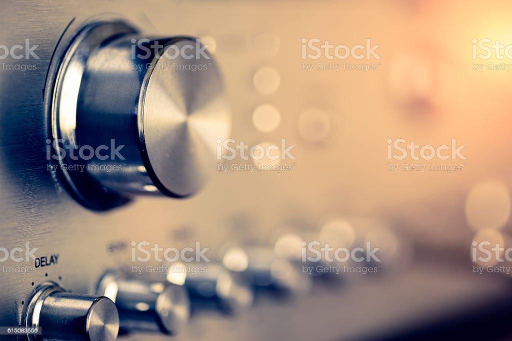 Music volume control stock photo