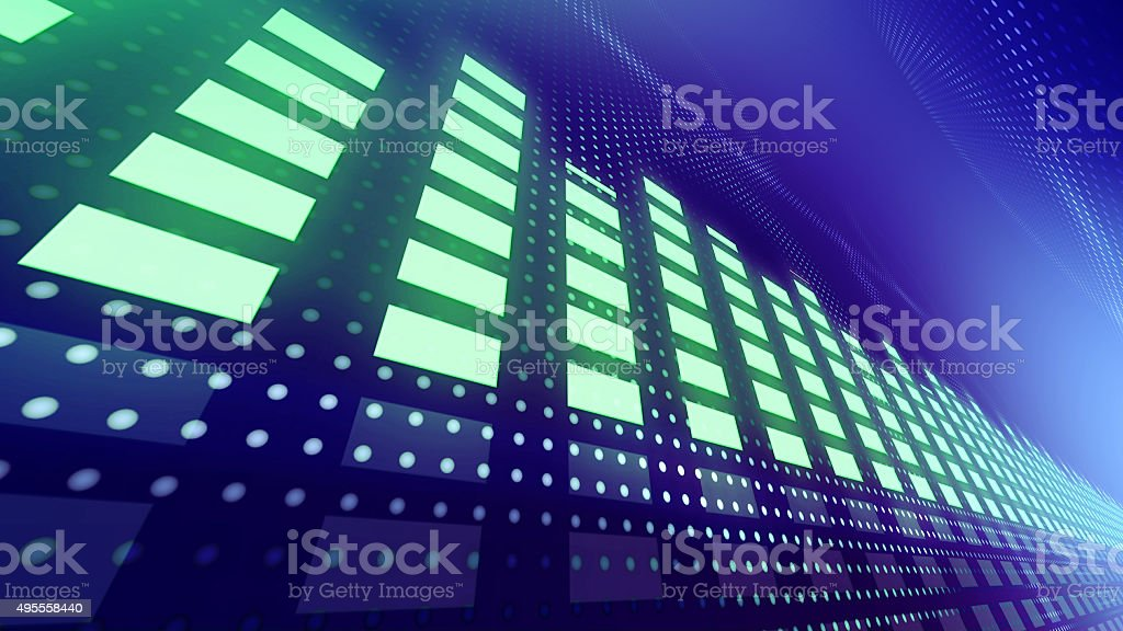 Music VU meters with dynamic lights stock photo