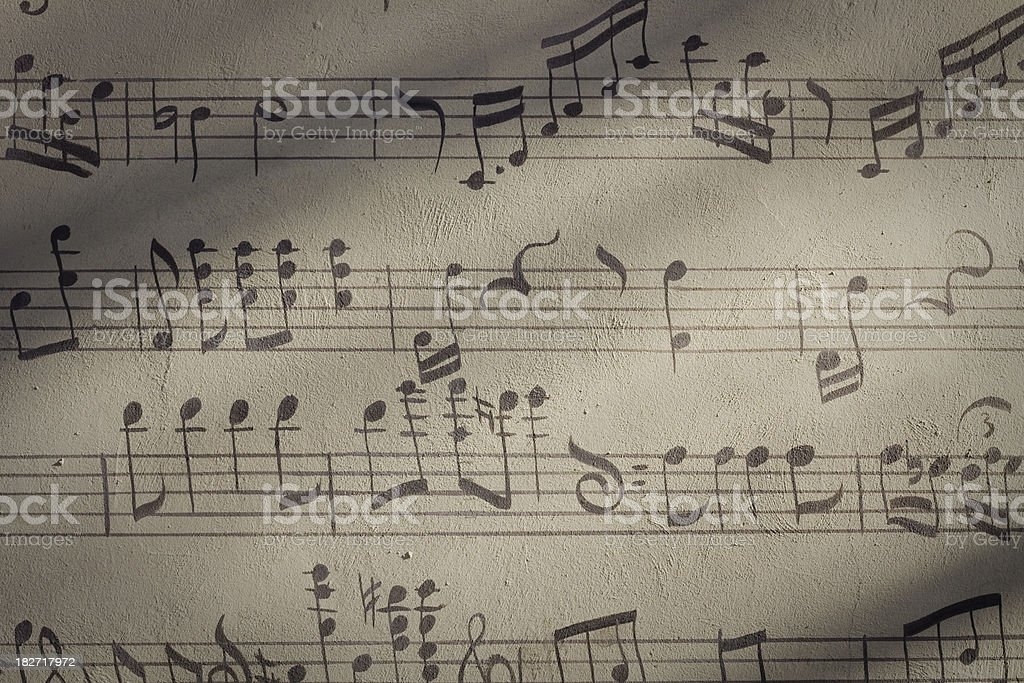 Music wall royalty-free stock photo
