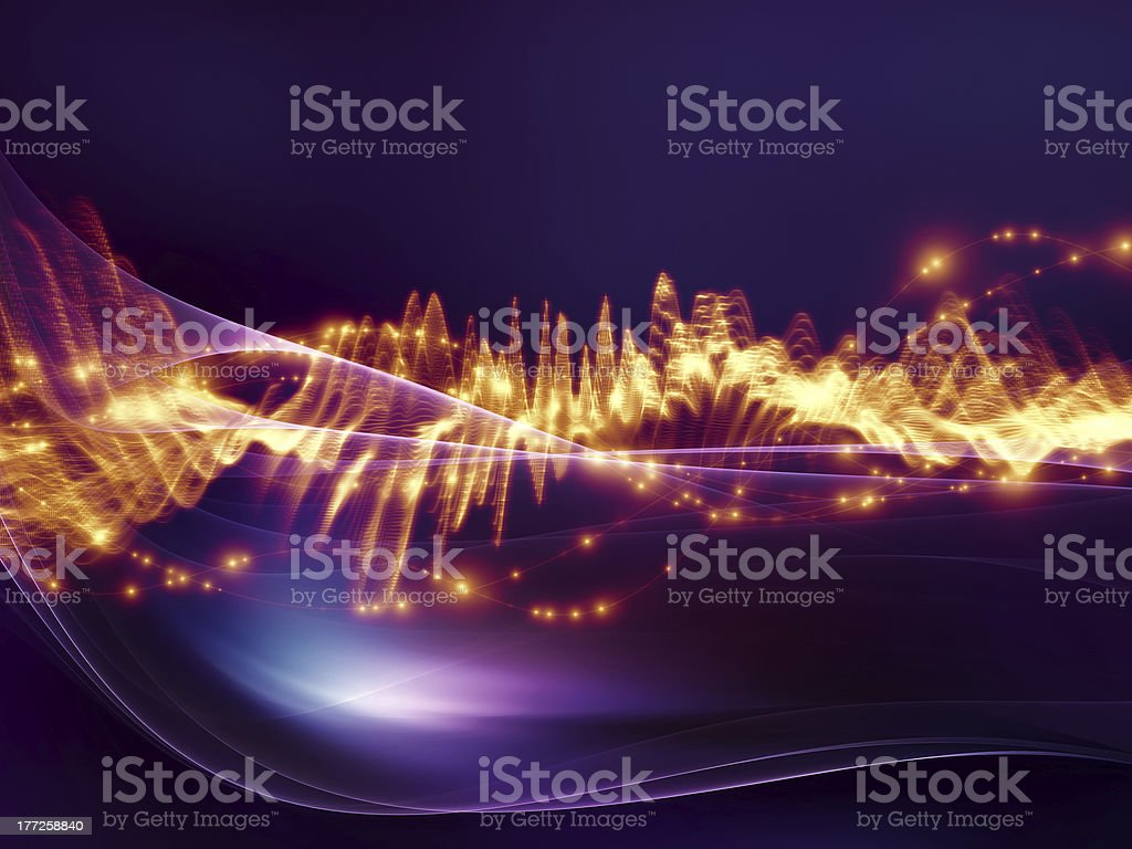 Music wave royalty-free stock photo