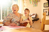 istock music with gran 646146412