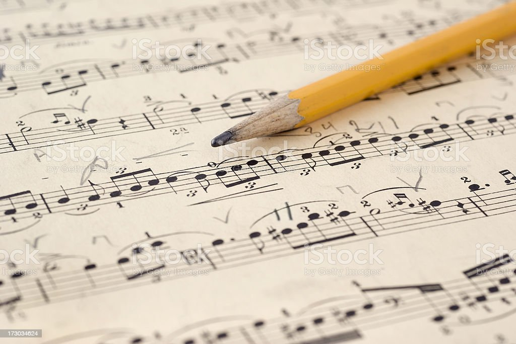 Music with Pencil stock photo