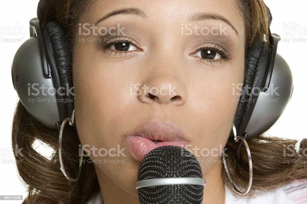Musica donna foto stock royalty-free