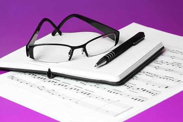 Music writing stock photo