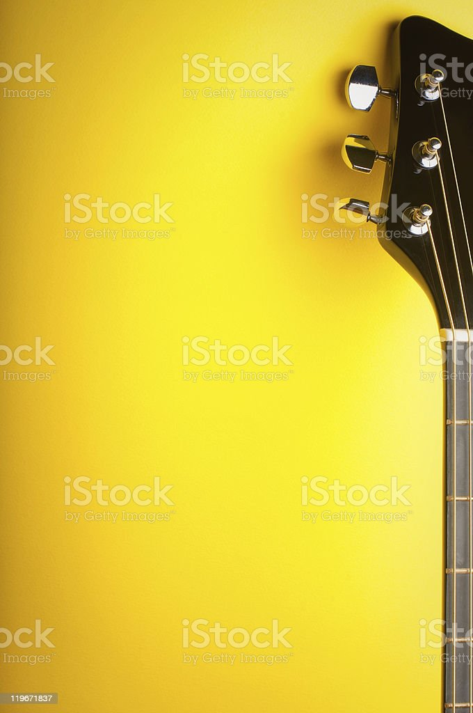 music yellow background stock photo
