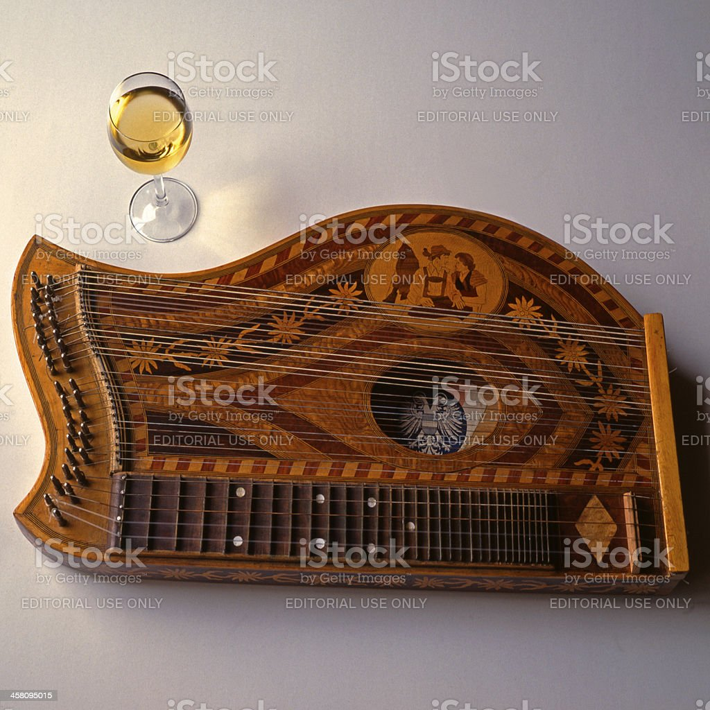 Musik, Zither stock photo