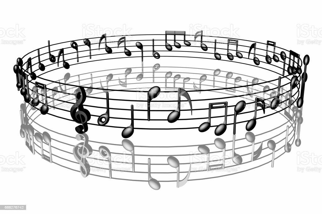 Musica pentagramma nero 007 stock photo