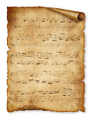 istock Musical background, old paper, note, music sheet page 450953749