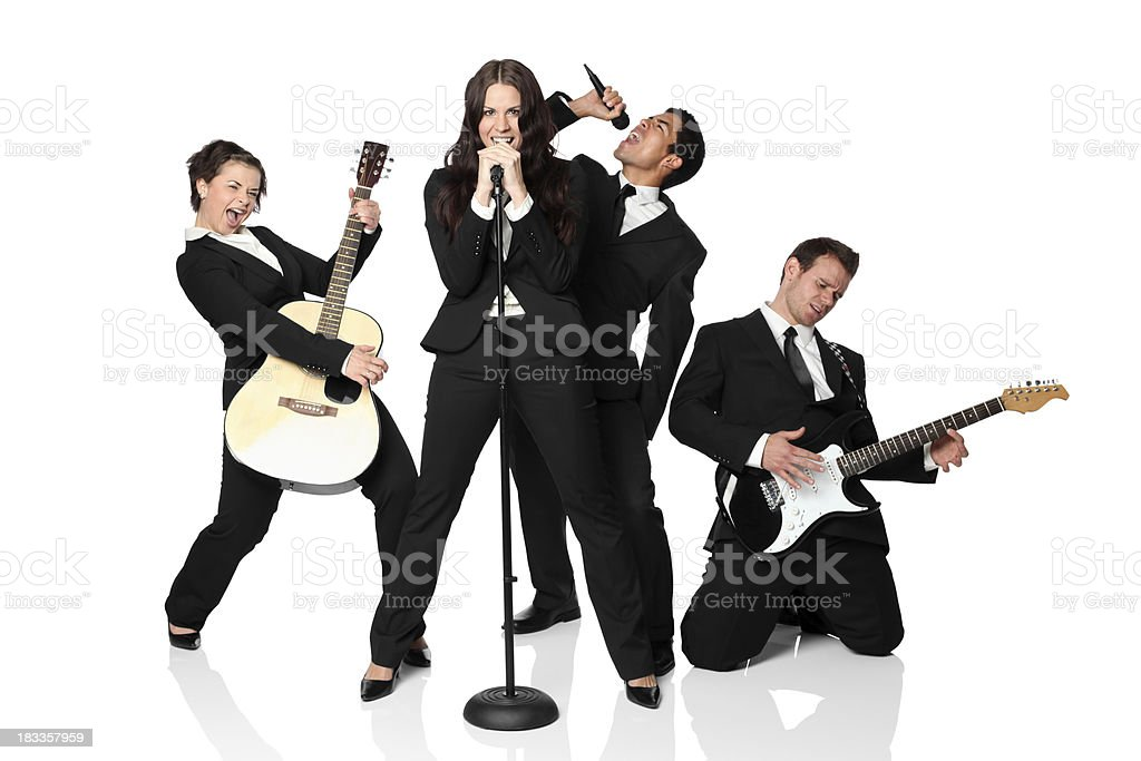 Musical band stock photo