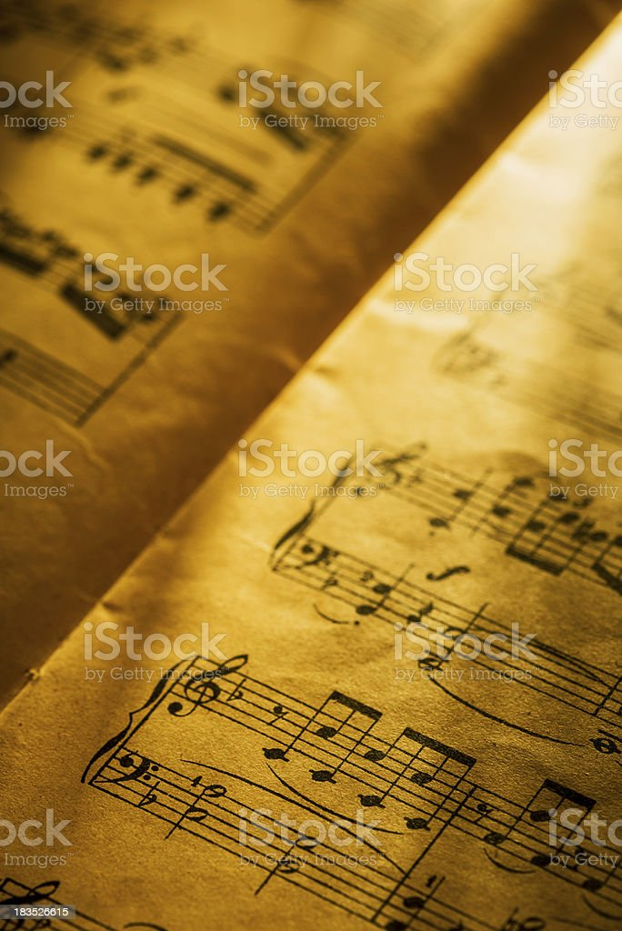 Musical composition royalty-free stock photo