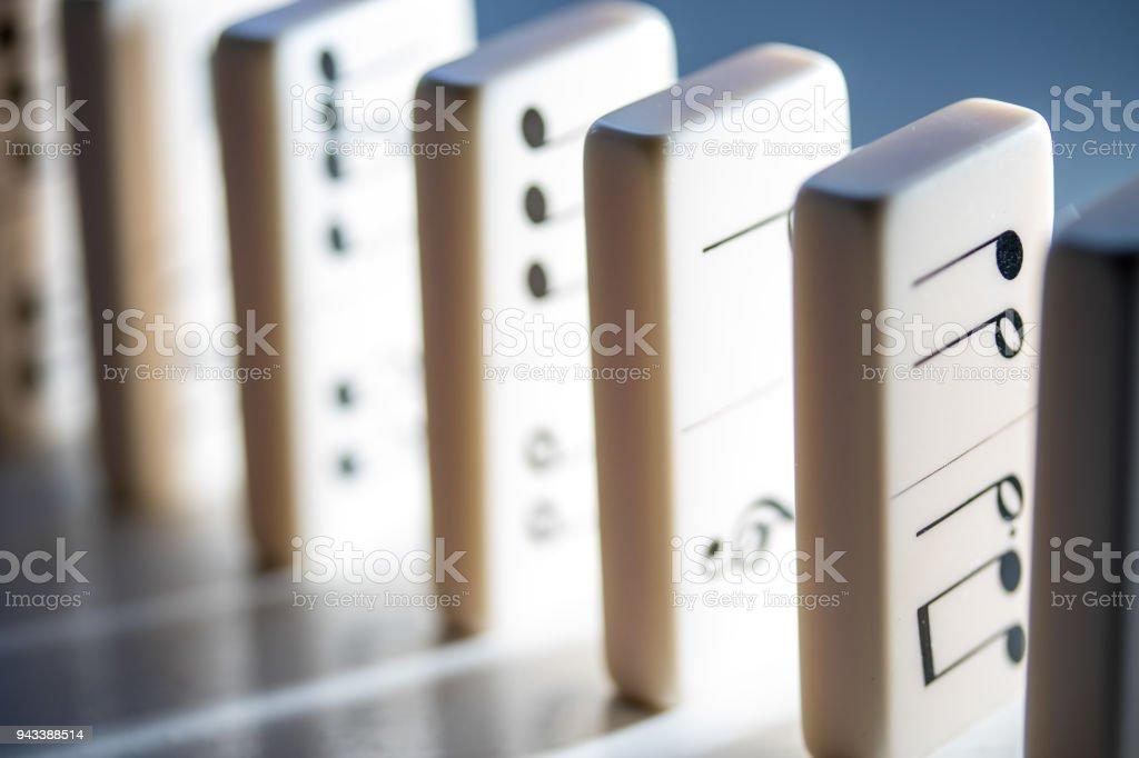 Musical Dominoes stock photo