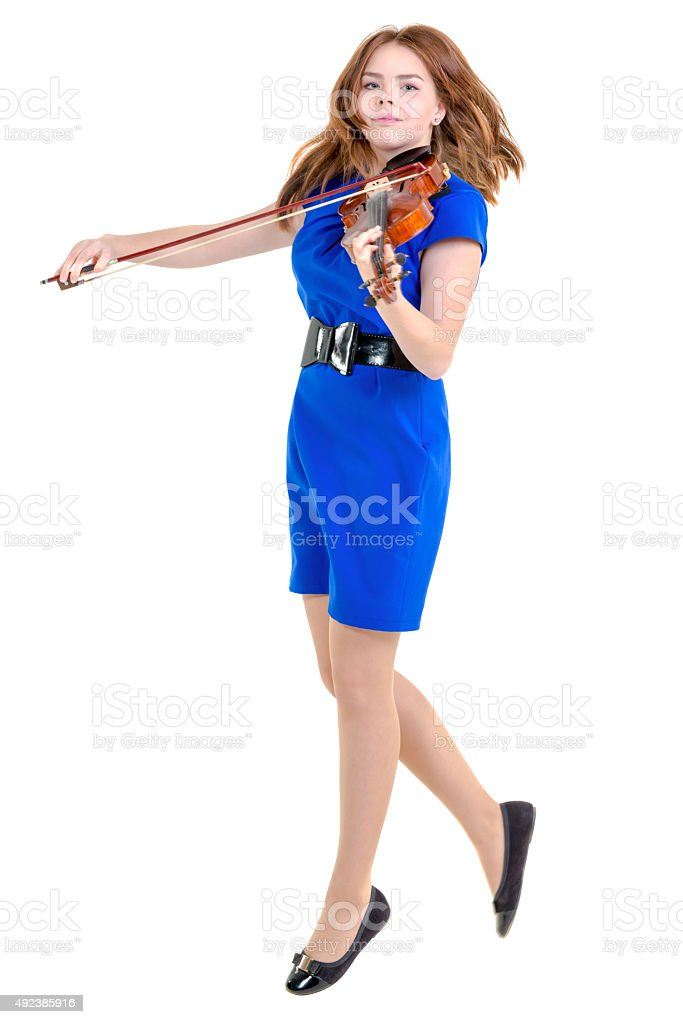 Musical Flying Violinist stock photo