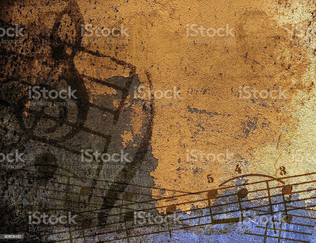 musical grunge background stock photo
