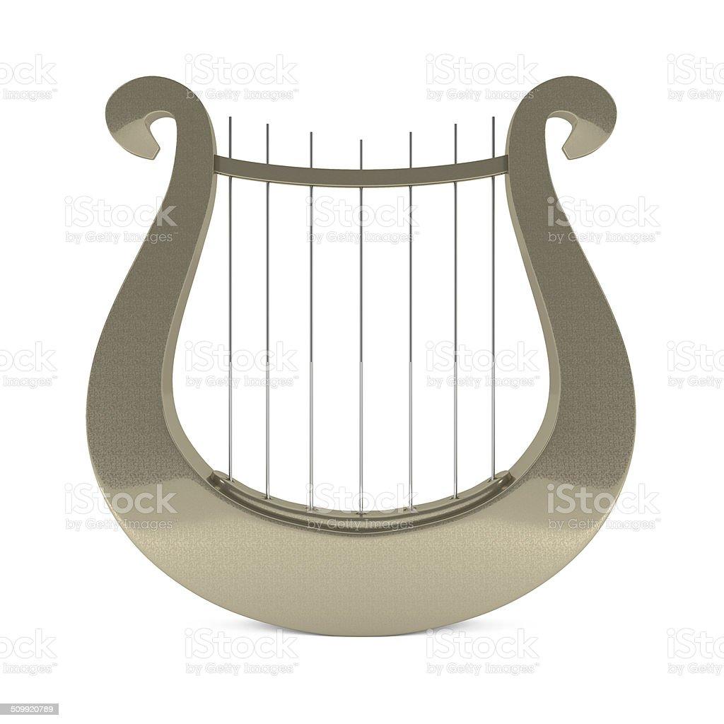 Musical Instrument Greek Golden Lyre Harp Stock Photo