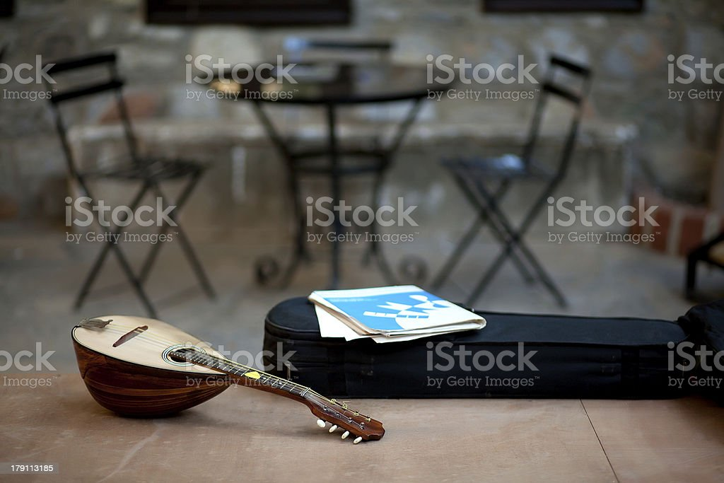Musical Instrument is on the Table royalty-free stock photo