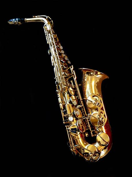 musical instrument - altsaxophon stock-fotos und bilder