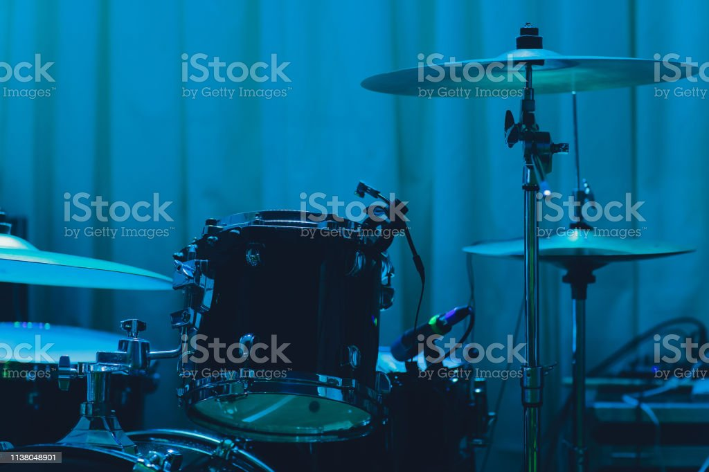 Musical instruments in concert,drum in the stage