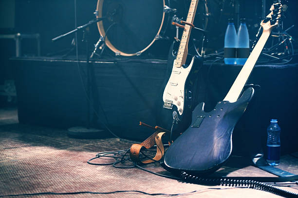 waiting to be played - rock music stock pictures, royalty-free photos & images