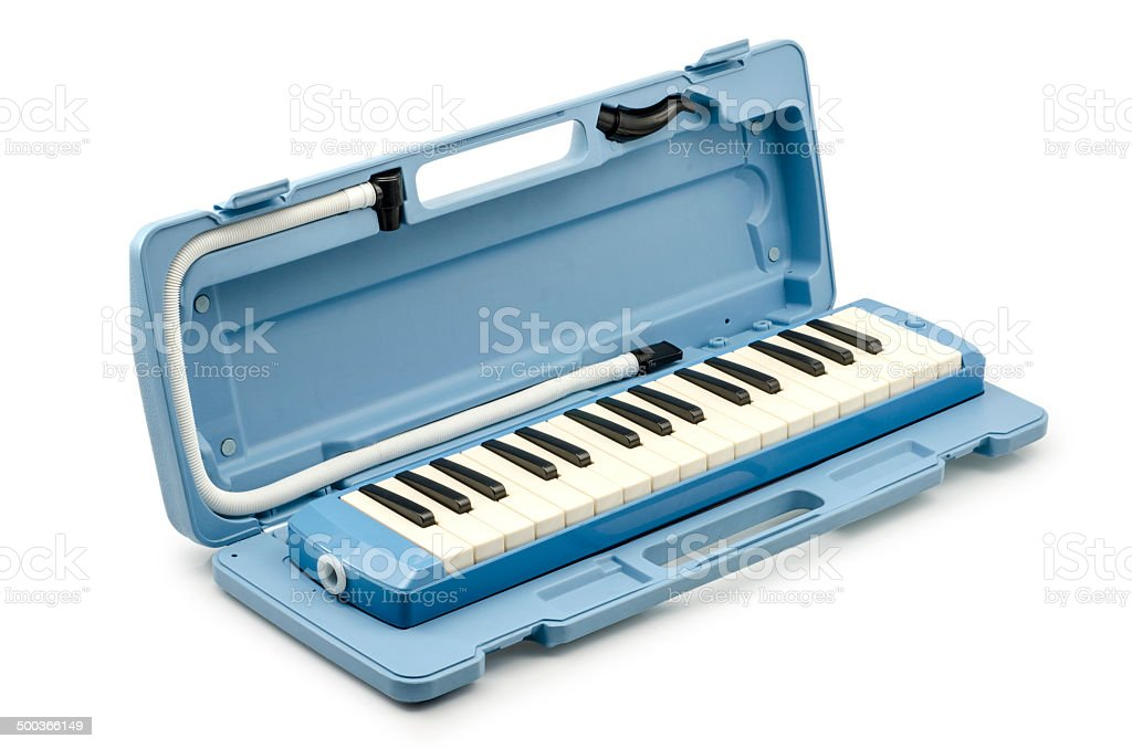 Musical Melodica Isolated on White Background stock photo