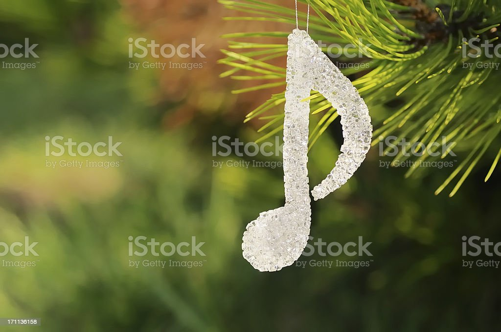 musical note Christmas decoration royalty-free stock photo