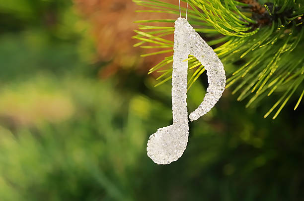 musical note Christmas decoration stock photo