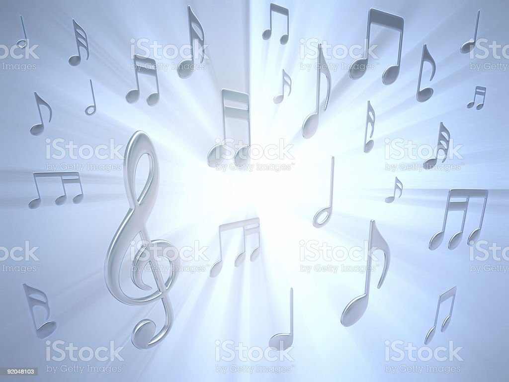 Musical Note stock photo